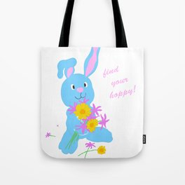 Scout with Flowers: Find Your Hoppy! Tote Bag