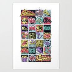 Crash Boom Bang ... Art Print