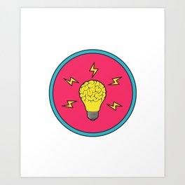 Problem Solving or Brainstorming Tshirt Design Brain storm Art Print