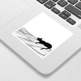 Lounging Sticker