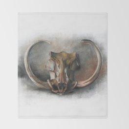 Warthog Skull Throw Blanket