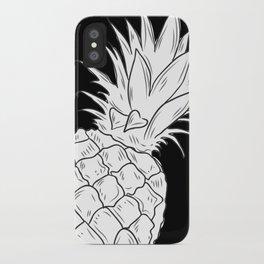 BLACK & WHITE PINEAPPLE iPhone Case