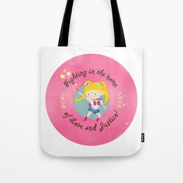 In the name of Love and Justice - Sailor Moon Tote Bag