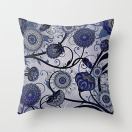 Denim Blues Throw Pillow