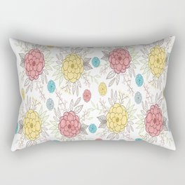 Lovely Colorful Floral Pattern Rectangular Pillow