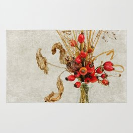 Rosehips and Grasses Rug