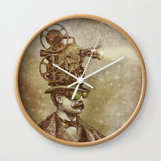 The Projectionist (sepia option) Wall Clock