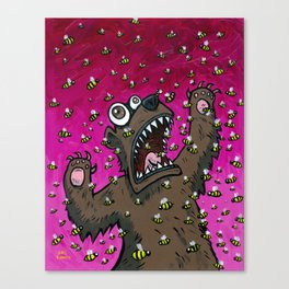 The Bear that was Allergic to Bees Canvas Print