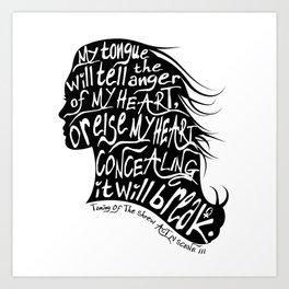 Speak Your Anger Art Print
