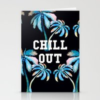 tupac Stationery Cards featuring Chill Out by Text Guy