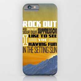 311 - Sunset In July iPhone Case