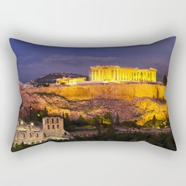 Acropolis hill in Greece.  Rectangular Pillow