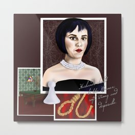 Mrs. White Metal Print
