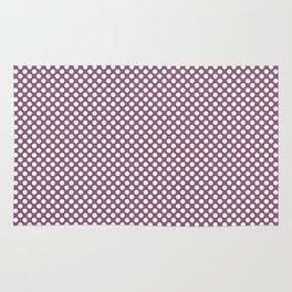 Grape Nectar and White Polka Dots Rug