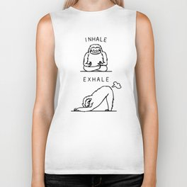 Inhale Exhale Sloth Biker Tank