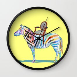animals with chairs #4 Chair on a Zebra Wall Clock