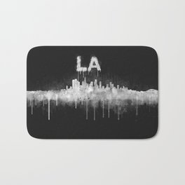 Los Angeles City Skyline HQ v5 WB Bath Mat