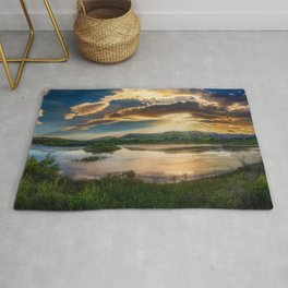 Sunrise on the Rivers Photograph Rug