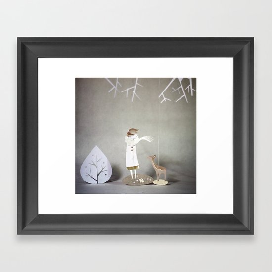 But By A Thread Framed Art Print