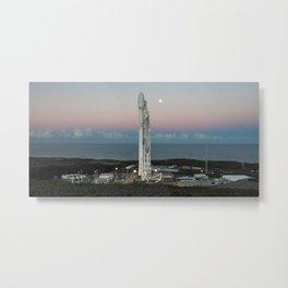Falcon 9 At Launch Pad Metal Print