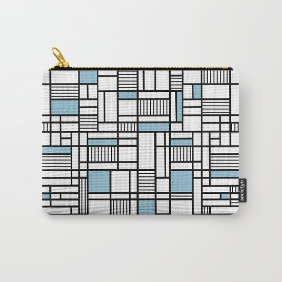 Map Lines Sky Blue Carry-All Pouch