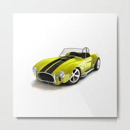 Cobra Roaster Yellow Black Strip Metal Print