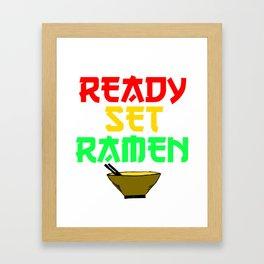 READY SET RAMEN Framed Art Print