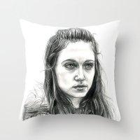 jem Throw Pillows featuring Jem Walker by laya rose