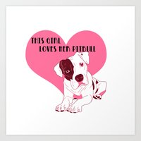 Pibble Love Art Print
