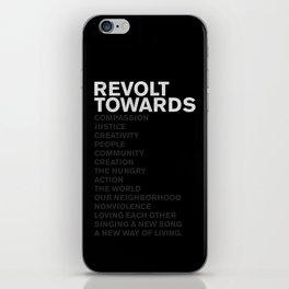 Revolt Towards (White) iPhone Skin