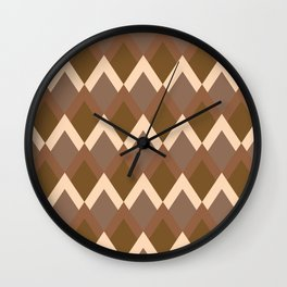Chocolate Diamonds Wall Clock