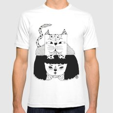 mew White MEDIUM Mens Fitted Tee