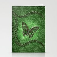 decorative Stationery Cards featuring Decorative butterfly by nicky2342