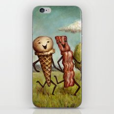 Bacon Loves Ice Cream iPhone & iPod Skin