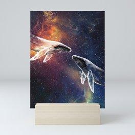 Whales love. Mini Art Print