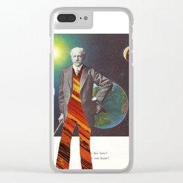 Professor OrangePants Clear iPhone Case