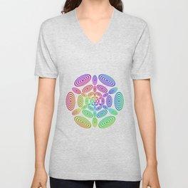Rainbow ellipse fun Unisex V-Neck