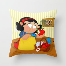 Snow White (apple) Throw Pillow