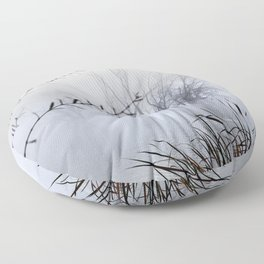 Lost in the foggy Mammoth Paradise Floor Pillow