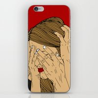 introvert iPhone & iPod Skins featuring Introvert 5 by Heidi Banford