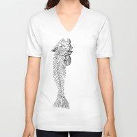 truck V-neck T-shirts featuring truck by Carl Christensen
