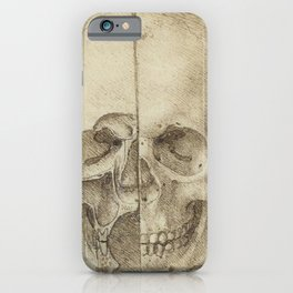 Skull - Leonardo Da Vinci iPhone Case