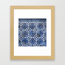 Cobalt Flourish Framed Art Print