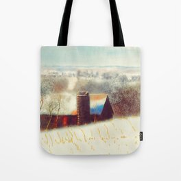 The Barn Over The Hill Tote Bag