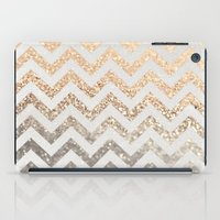 silver iPad Cases featuring GOLD & SILVER  by Monika Strigel