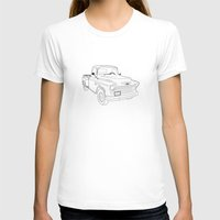 truck T-shirts featuring 1955 Truck by Yellow Chair Design