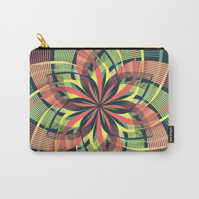 Red Yellow Blue Mandala Petals Carry-All Pouch