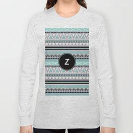 Monogram Tribal Pattern *Z* Long Sleeve T-shirt