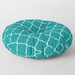 Teal Green Quatrefoil Pattern - Leaf Pattern from Peppermint Creek Floor Pillow
