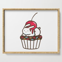 Chubby Bunny on a cupcake Serving Tray
